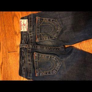 Boot cut dark wash jeans